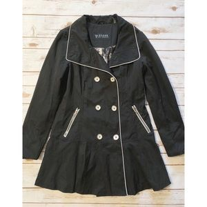 Guess Black and White Overcoat